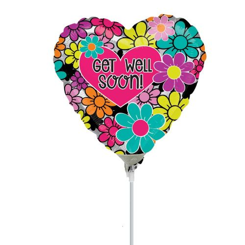 Floral Get Well Soon Foil Mini Shape Flat